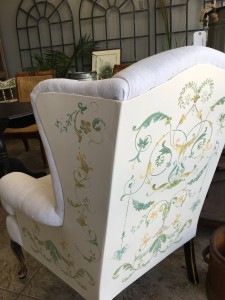 Furniture - Hand painted wingback chair