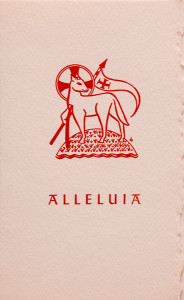 Untitled (Holy Cards--Alleluia)