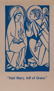 Untitled (Holy Cards--Hail Mary, full of Grace)