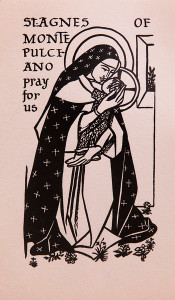 Untitled (Holy Cards--Saint Agnes Monte Pulciano Pray for us)
