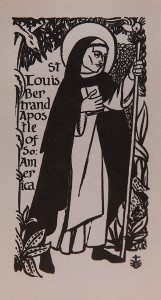 Untitled (Holy Cards--Saint Louis Bertrand of South America)
