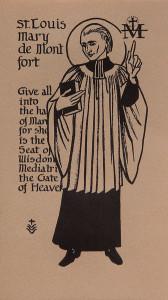 Untitled (Holy Cards--Saint Louis Mary de Montfort)