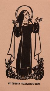 Untitled (Holy Cards--Saint Teresa Margaret Redi)
