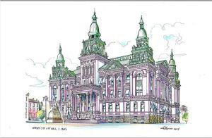 Jersey City City Hall, c. 1900's