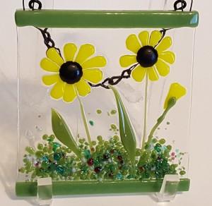 花园衣架 - 黄色雏菊