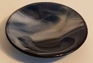 Small Dish-Copper Blue with White Streaky