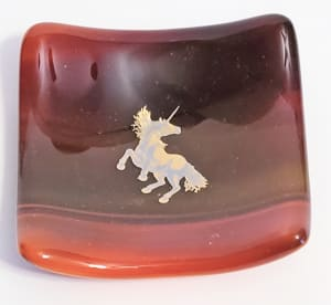 Small Dish with Unicorn Decal