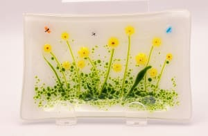 肥皂盘/勺子休息 - 向日葵花园