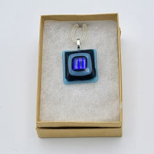 Necklace-Stacked Squares with Dichroic Center
