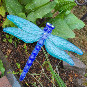 Dragonfly Yard Stake-Blue/Turquoise