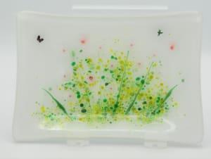 Soap Dish/Spoon Rest-Pink Poppy Field