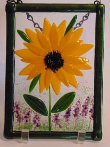 Garden Hanger-Sunflower with Lavender
