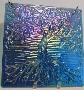 Garden Hanger-Tree of Life, Steel Blue Irid