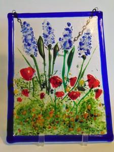 Garden Hanger-Delphiniums/Poppies