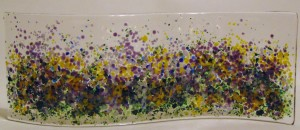 Garden Curve-Abstract Stand-up--Yellows/Purples