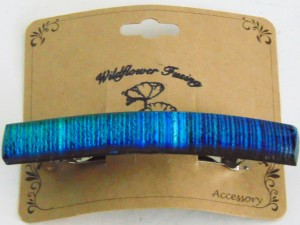 Barrette, Blue Dichroic Reed