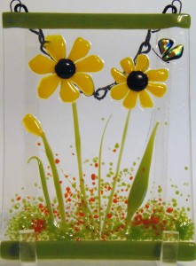 Garden Hanger-Daisies with Butterfly