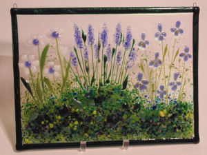 Garden Hanger-Daisies, Delphiniums, Irises