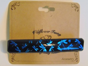 Barrette-Turquoise Dragonfly Dichro