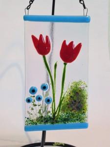 Garden Hanger-Red Tulips