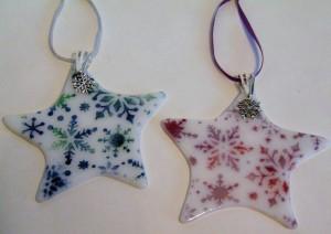 星装饰与雪花