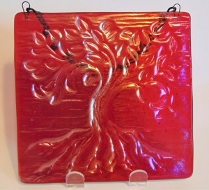 Tree of Life Hanger, Small-Red Irid