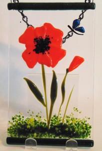 花园衣架 - 橙色罂粟
