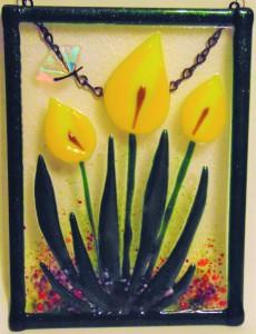 花园衣架 - 黄色马蹄莲