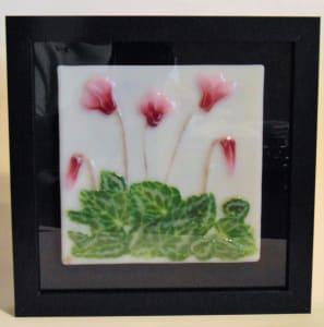 Wall Hanger-Pink Cyclamen Flowers