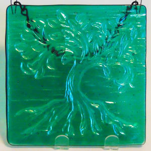 Garden Hanger-Tree of Life, Small on Green Irid