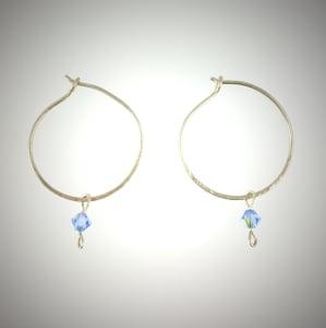 甜蜜的蓝色水晶双锥花