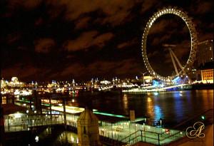 Millenium Wheel at Night