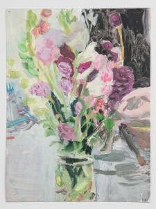 Untitled (flowers in glass vase)
