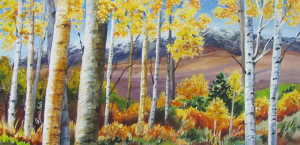 Aspen with Mountains