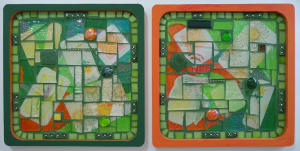 Green and Gold (pair of trivets)