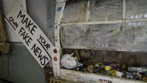 Make Your Own Fake News, garbage truck