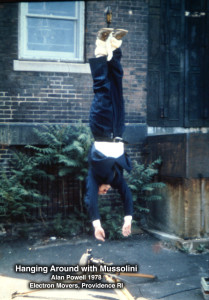 Hanging Around with Mussolini: video Installation by Alan Powell 1978