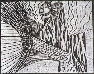 Landscape/ Nature  - black paper