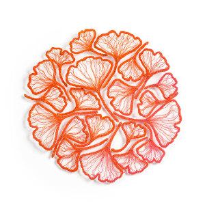 Ginkgo circle - orange to pink