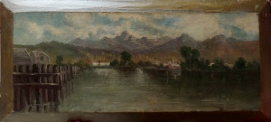 0068 - Landscape on wood panel