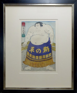 Sumo Wrestler, blue wrap
