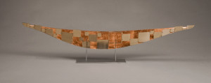 Boat with Copper Leaf and Squares
