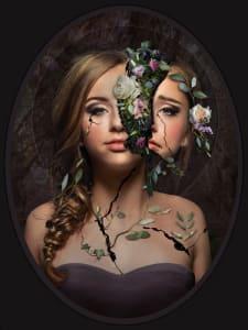 """9th Place – Overall - Rachel Owen - """"Beautifully Broken: Beauty"""" – www.rachelowen.art"""