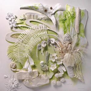 """3rd Place – Raymond Besserdin - """"The Path to Gondwana"""" - www.papersculptureartist.com"""