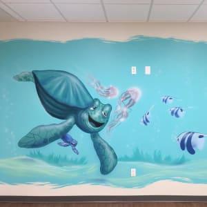 Children's Hospital Room. Illustrative Turtle