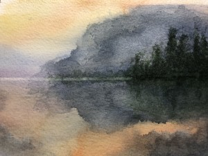 Stormy Skies Reflected on Water - Donated