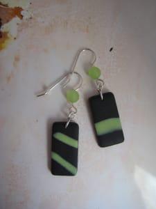 Black/Lime Green Earrings