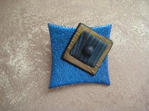 Metallic Blue Pin