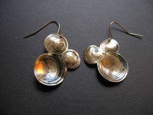 Etched Circles Earrings
