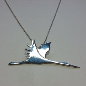 Flying Crane Necklace